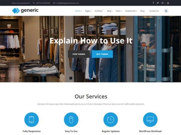 Free WP Generic Wordpress theme