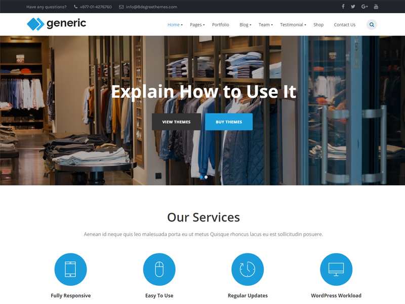 Free WP Generic Wordpress theme