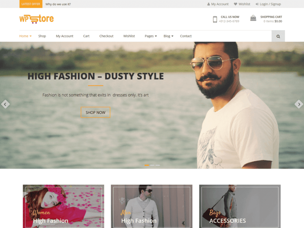 Free WP Store Wordpress theme
