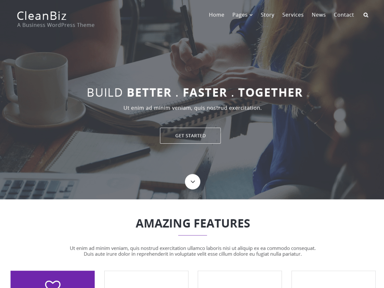 Download Free Clean Biz WordPress theme - JustFreeWPThemes