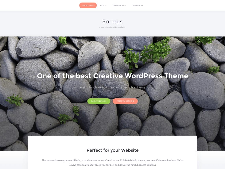 Download Free Sarmys WordPress theme - JustFreeWPThemes