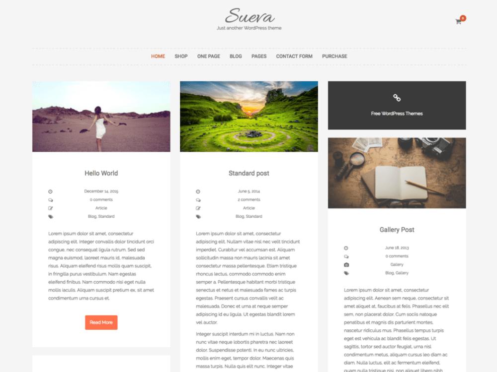 Download Free SuevaFree Wordpress theme - JustFreeWPThemes