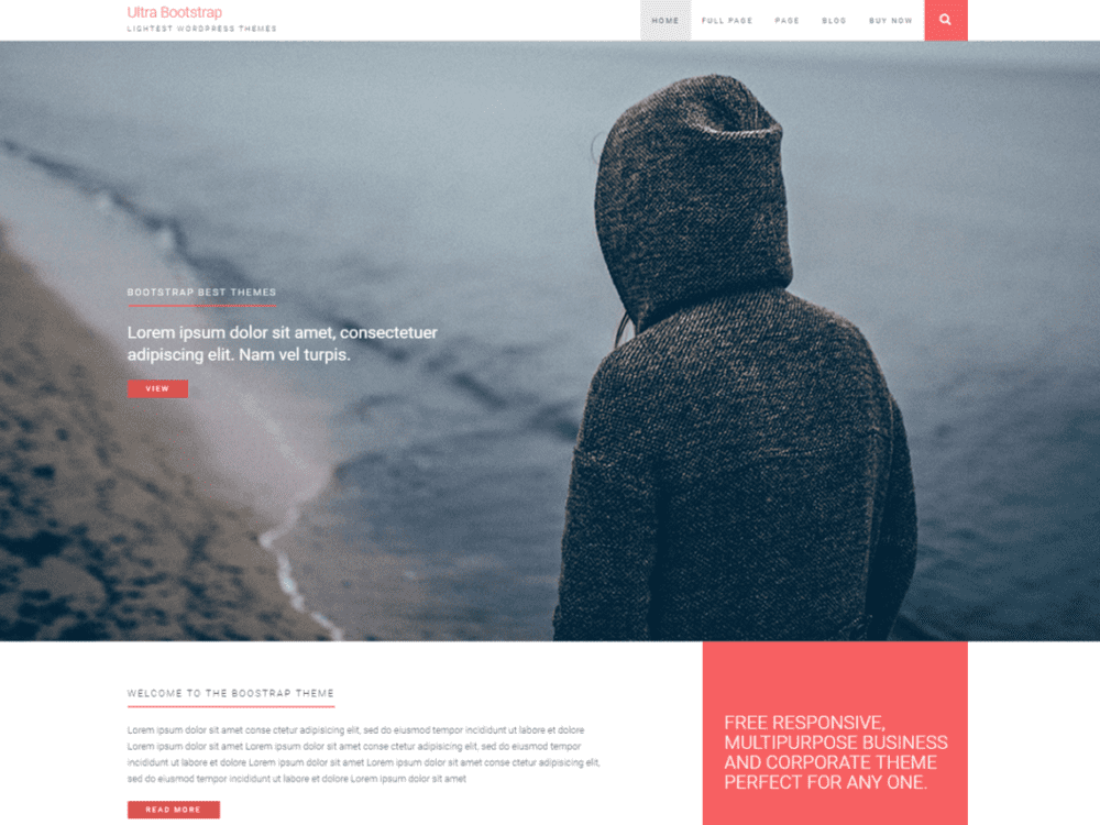 Free Ultrabootstrap Wordpress theme