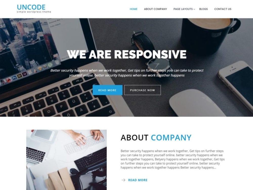 Download Free Uncode Lite Wordpress theme - JustFreeWPThemes