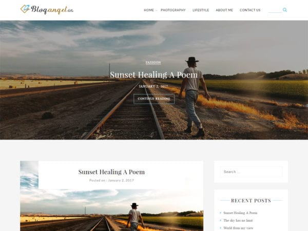 Free BlogAngel Lite Wordpress theme