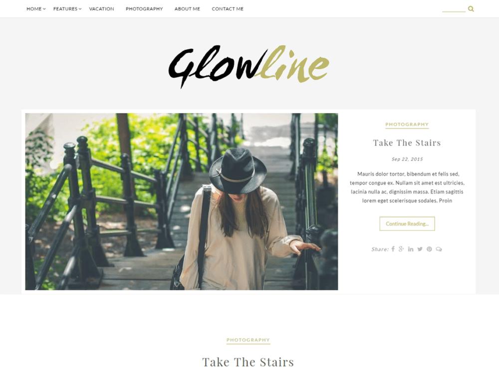 Free GlowLine Wordpress theme