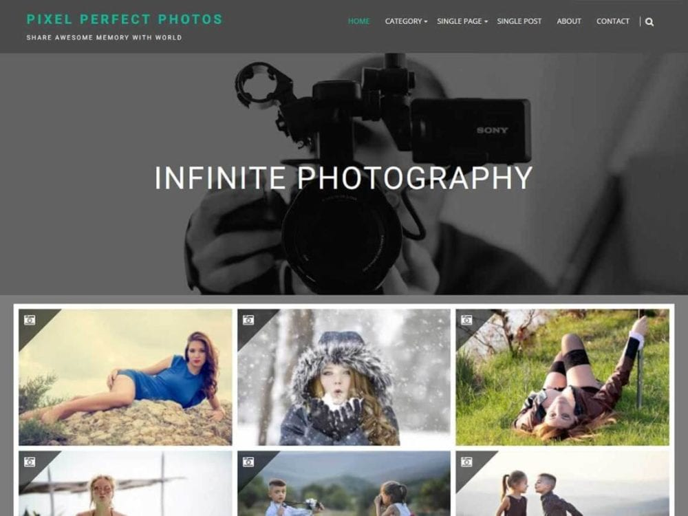 Download Free Infinite Photography WordPress theme - JustFreeWPThemes