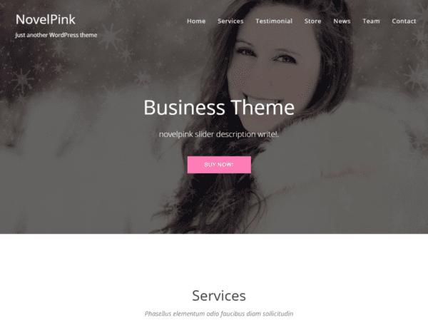 Free NovelPink Wordpress theme