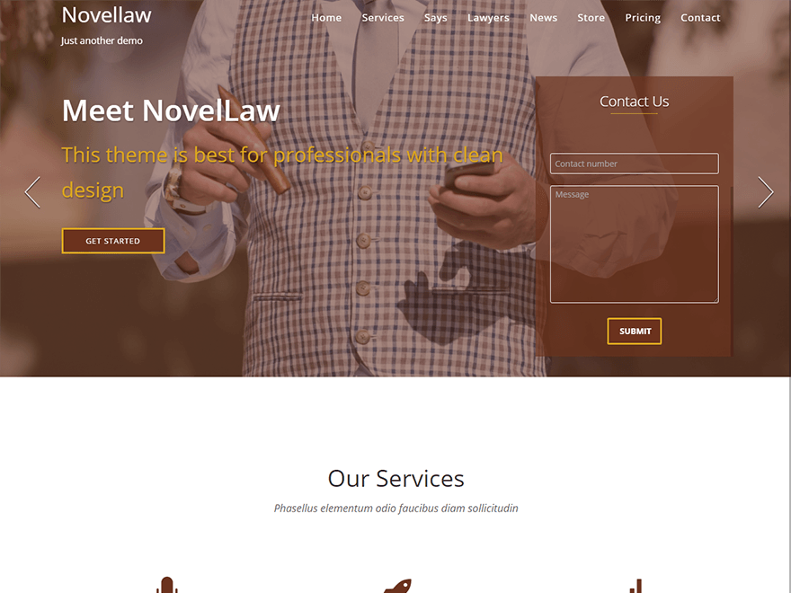 Free Novellaw Wordpress theme