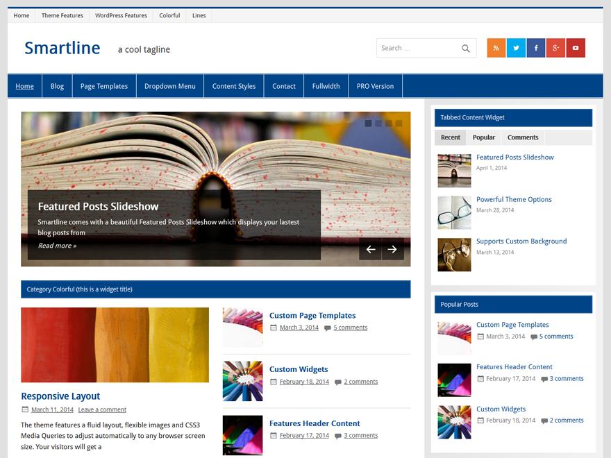 download free smartline lite wordpress theme justfreewpthemes