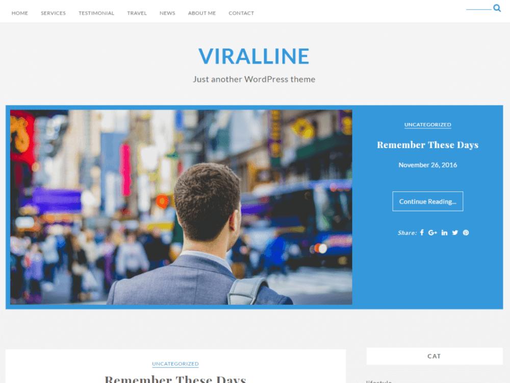 Free Viralline Wordpress theme