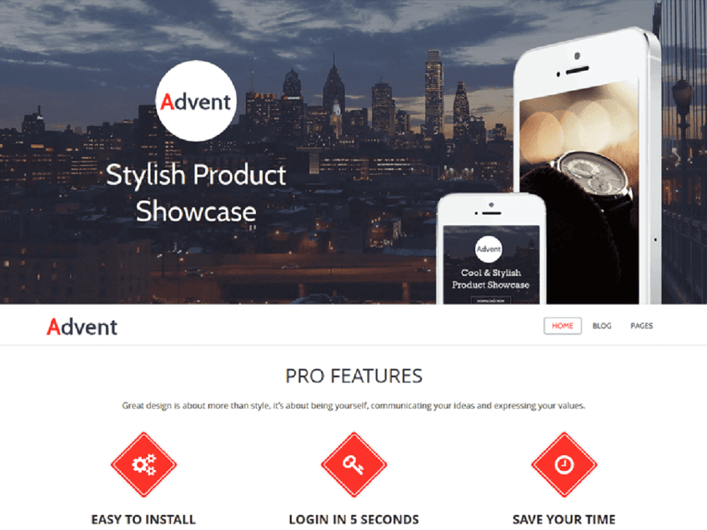 Download Free Advent Wordpress theme - JustFreeWPThemes