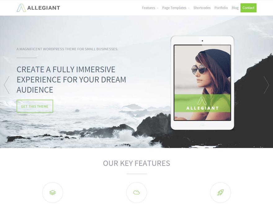 Download Free Allegiant Wordpress theme - JustFreeWPThemes
