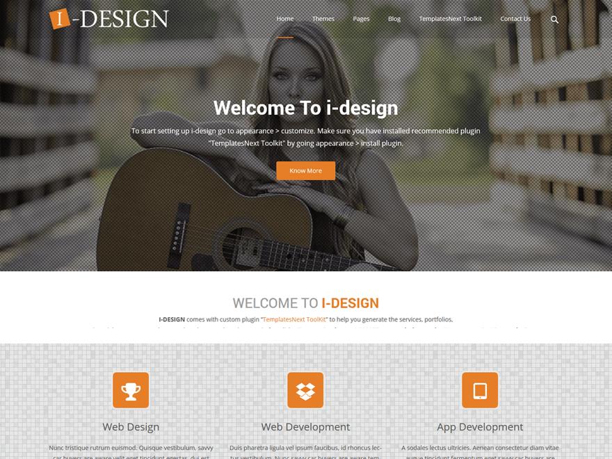 Download Free I-Design Wordpress theme - JustFreeWPThemes