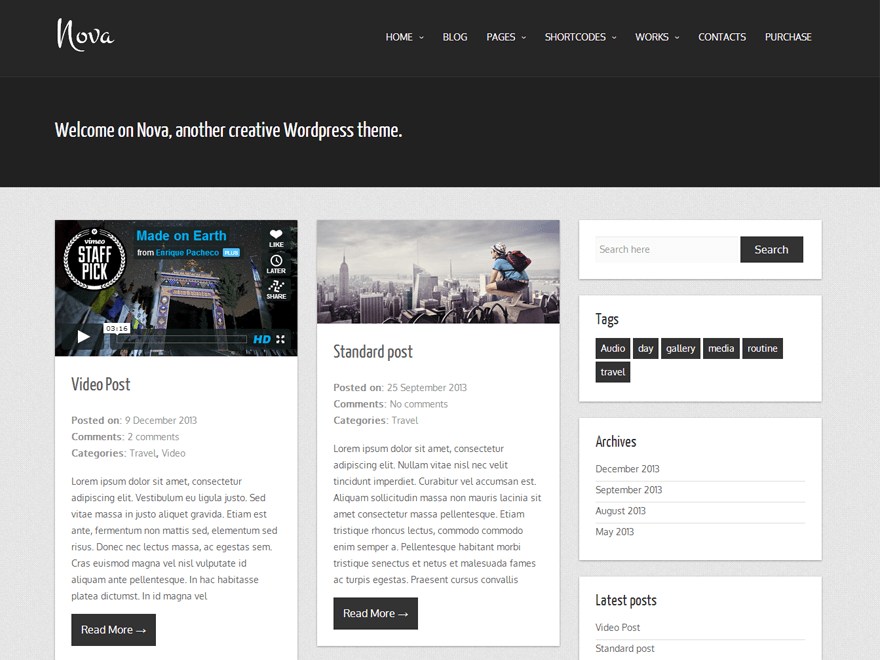 Download Free Nova Lite WordPress theme - JustFreeWPThemes