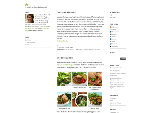 Free Ari WordPress theme