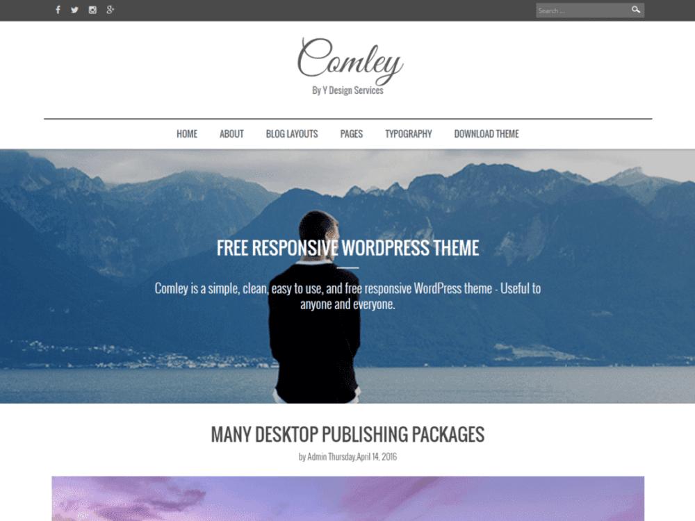Download Free Comley Wordpress theme - JustFreeWPThemes