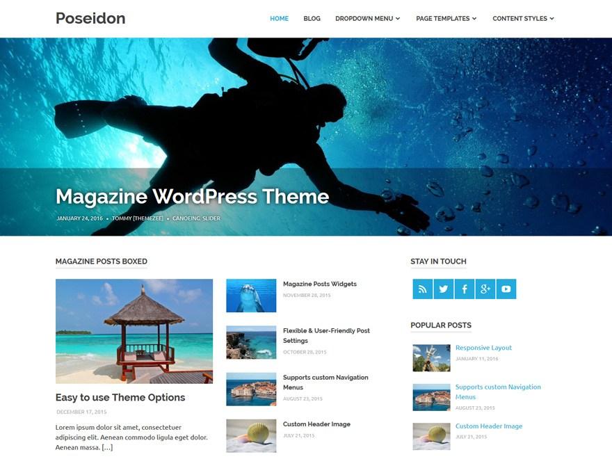 Download Free Poseidon WordPress theme - JustFreeWPThemes