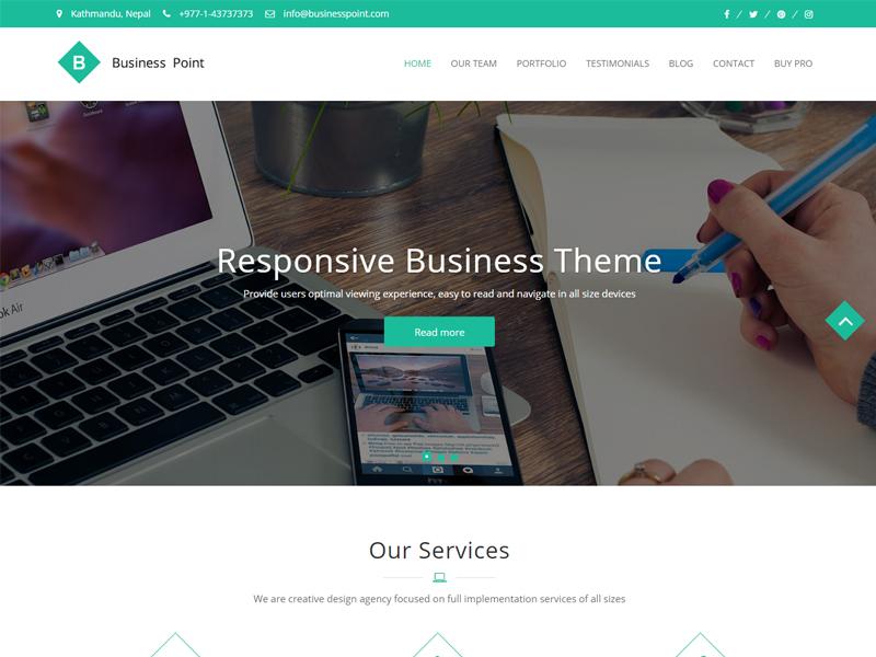 Free Business Point Wordpress theme