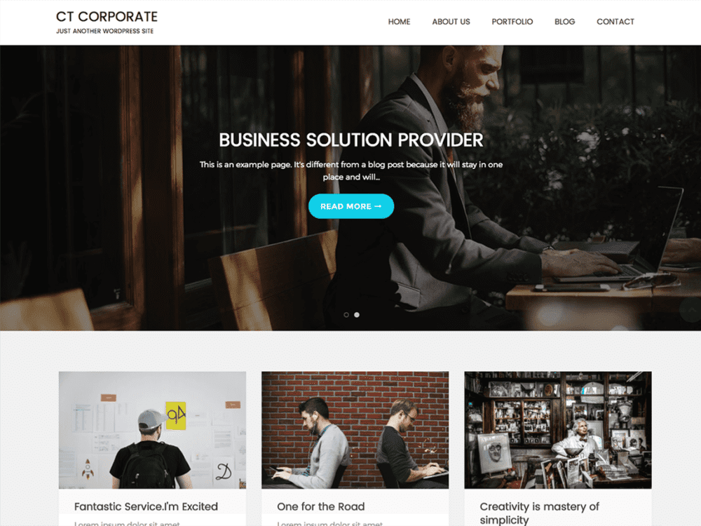 Free CT Corporate Wordpress theme