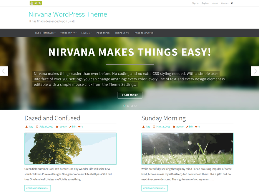 Download Free Nirvana WordPress theme - JustFreeWPThemes