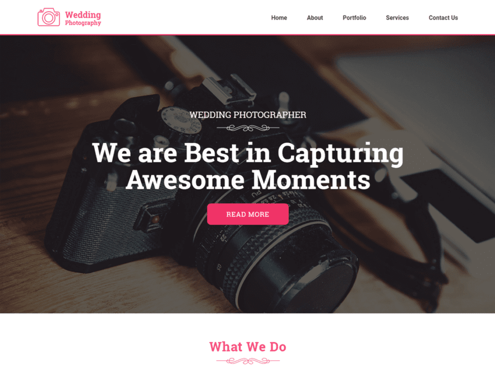 Free Weddingphotography Wordpress theme