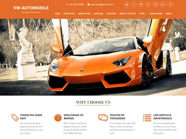 Free VW automobile Lite Wordpress theme