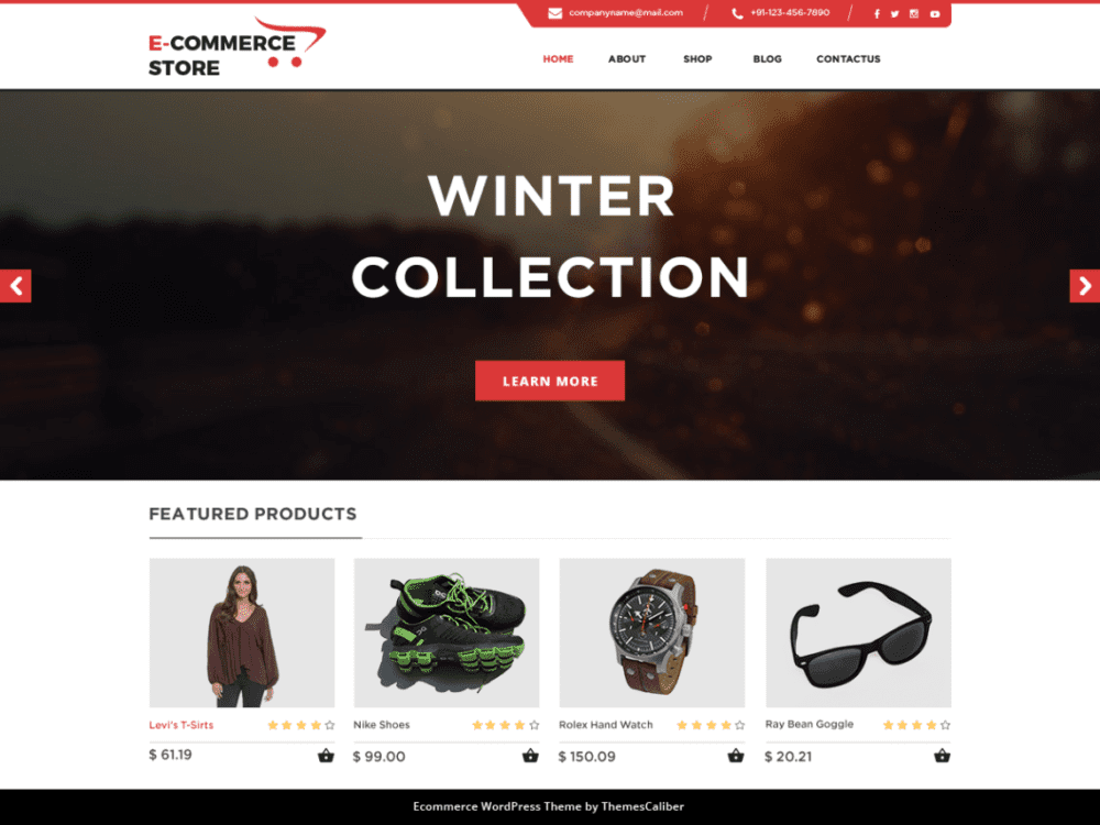 Download Free TC E-Commerce Shop WordPress theme - JustFreeWPThemes