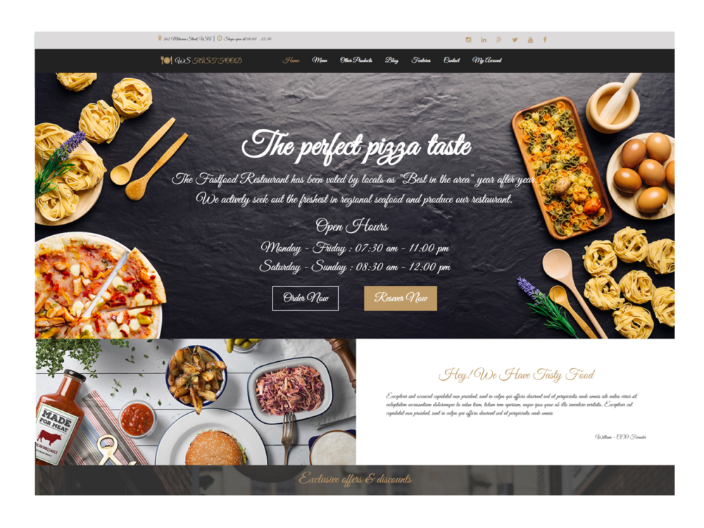 Download free ws fastfood wordpress theme justfreewpthemes ws fast food is free responsive wordpress template that objectives for sustenance arrange sites the theme accompanies eye getting outline and light shading forumfinder Image collections