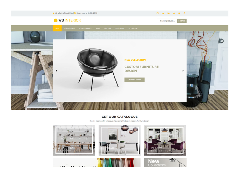 Download Free WS Interior Wordpress theme - JustFreeWPThemes