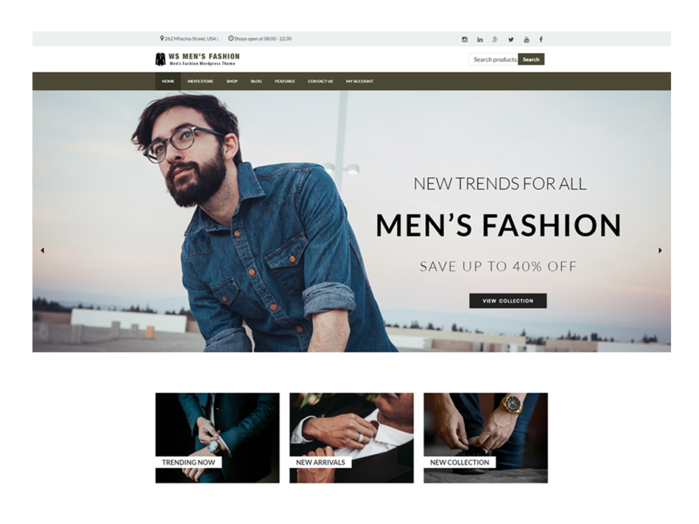 Download Free WS Men\'s Fashion Wordpress theme - JustFreeWPThemes