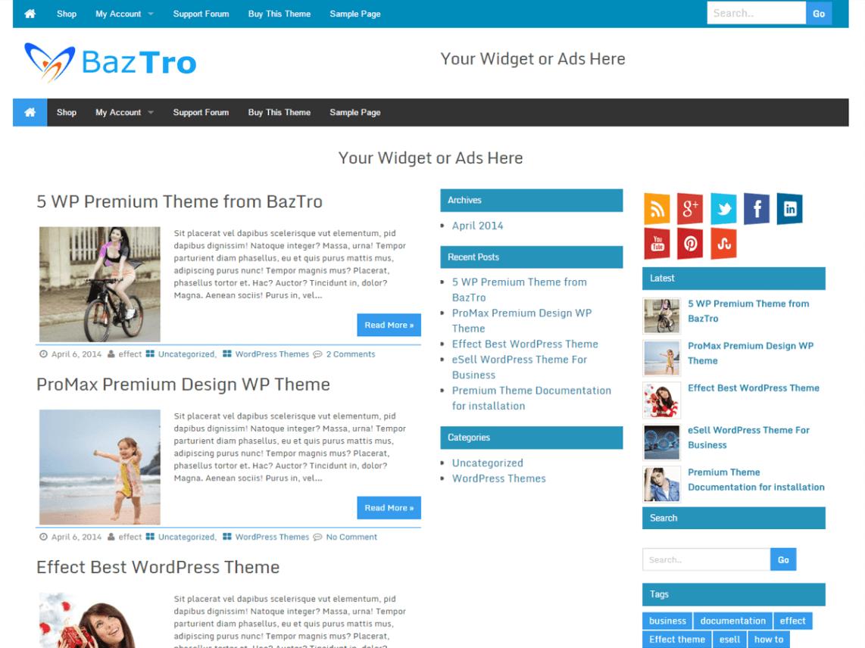 Download Free Wrock Metro Wordpress Theme Justfreewpthemes