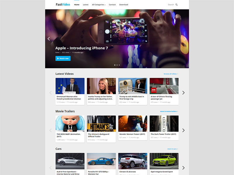 free fastvideo wordpress theme