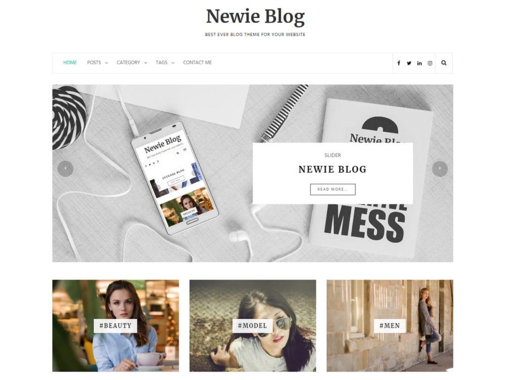 free newie wordpress theme