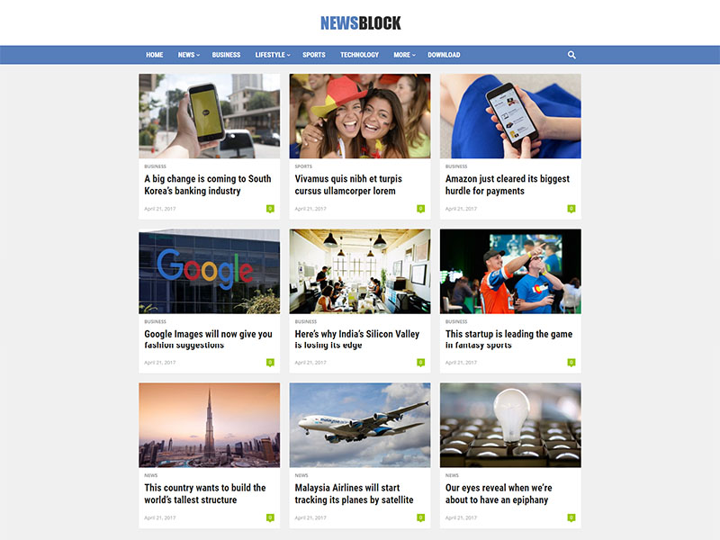 free newsblock wordpress theme