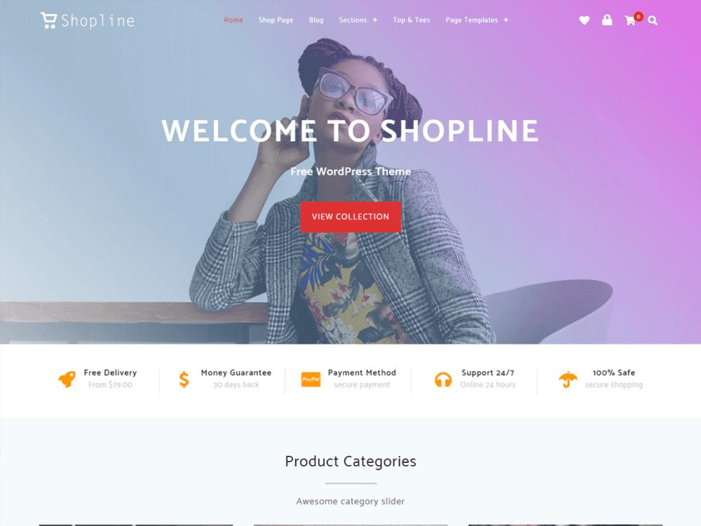 free shopline wordpress theme