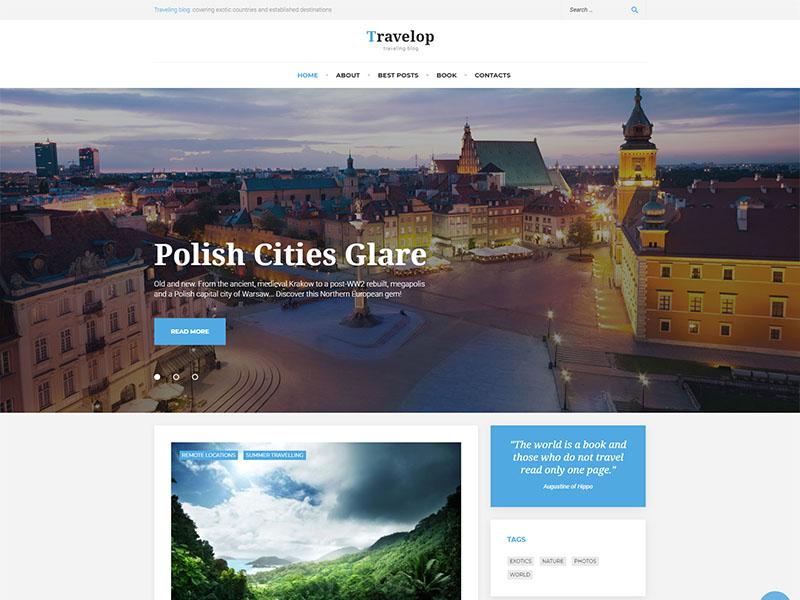 free travelop lite wordpress theme