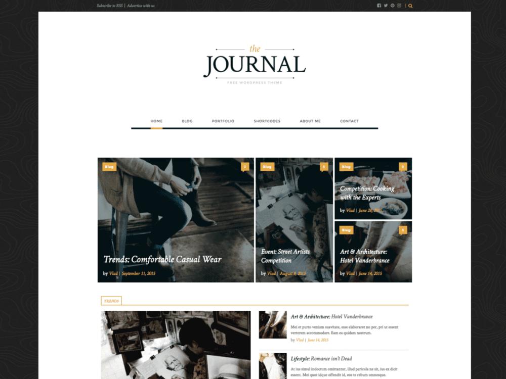 Free journal WordPress Theme