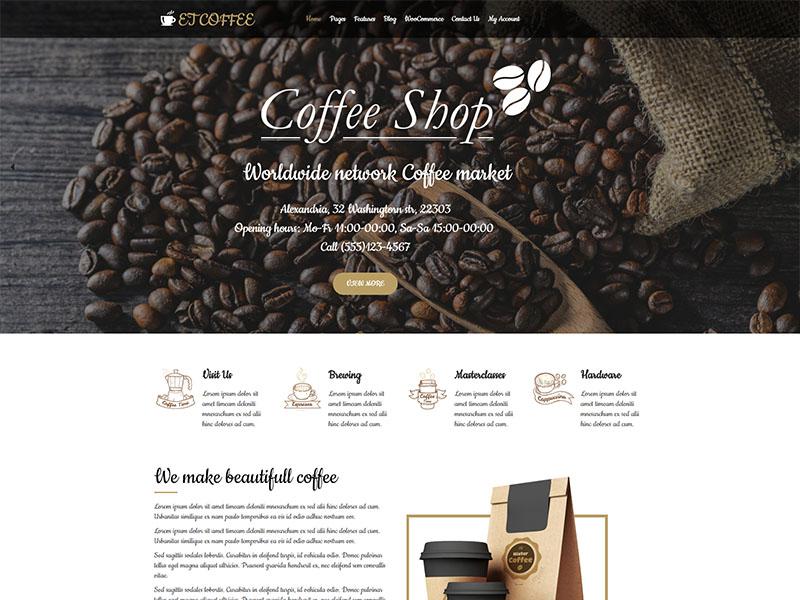Download Free ET Coffee Wordpress theme - JustFreeWPThemes