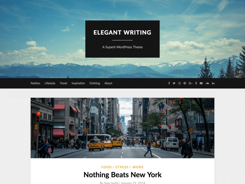 Download Free ElegantWriting WordPress theme - JustFreeWPThe