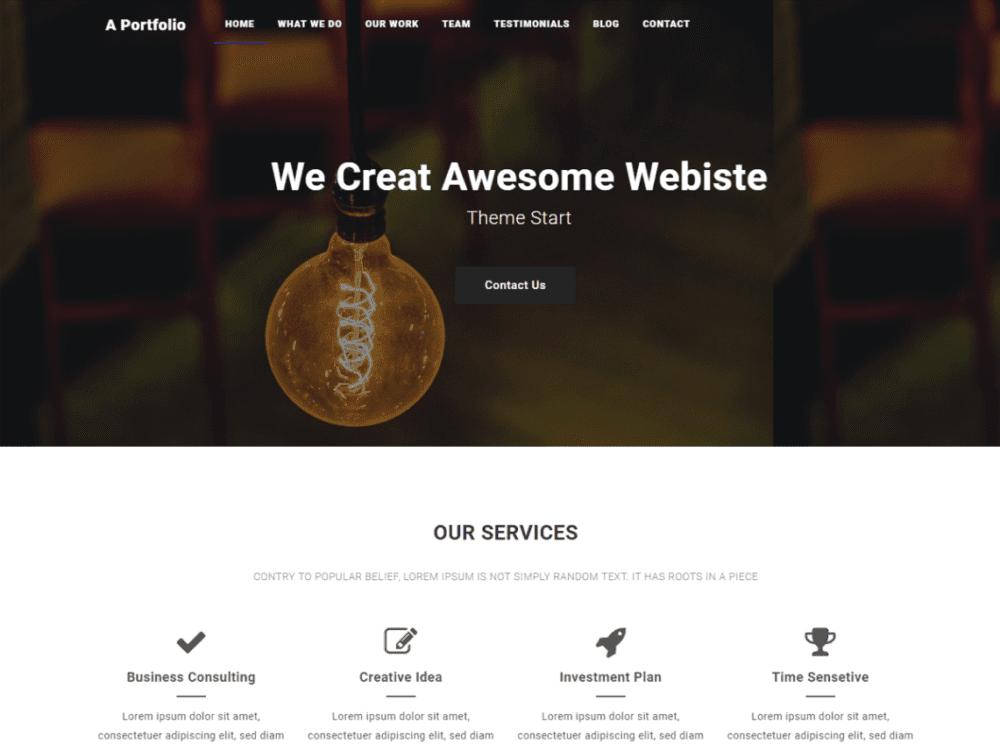 Free A portfolio Wordpress Theme