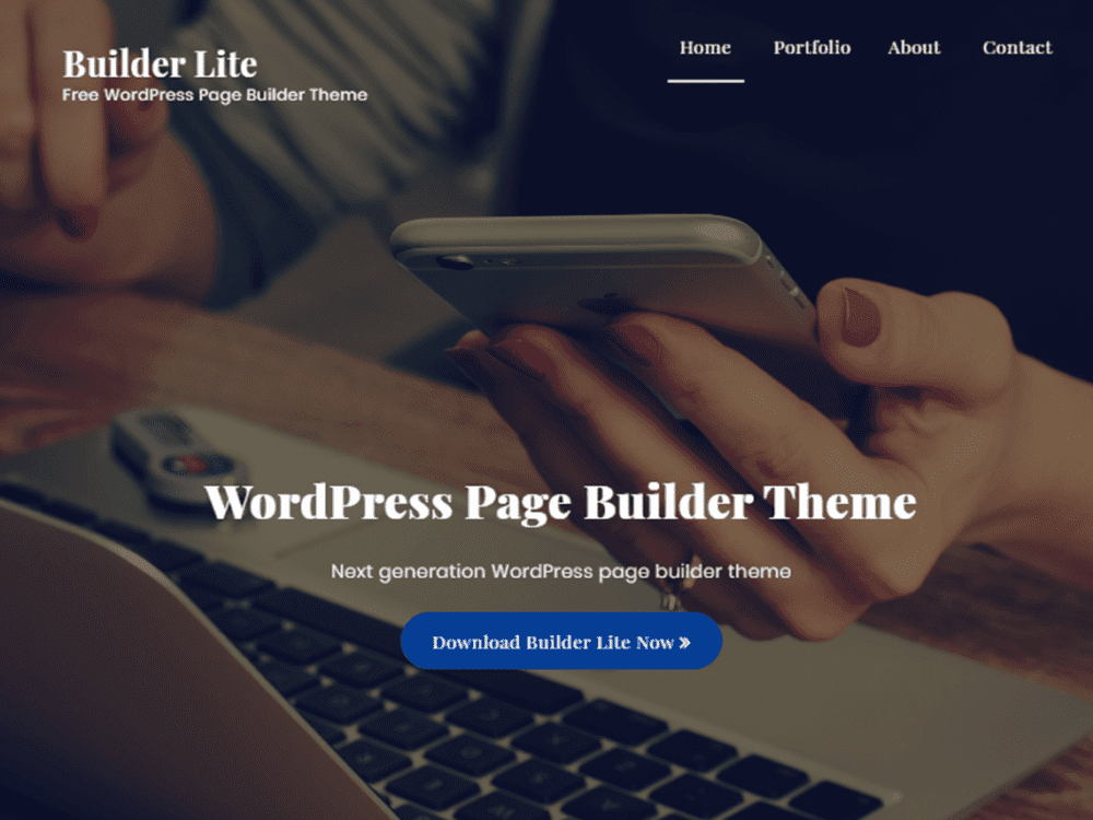 Free Builder Lite Wordpress theme