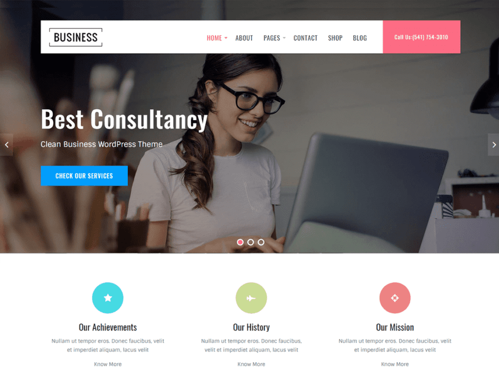 Free Business Key Wordpress theme