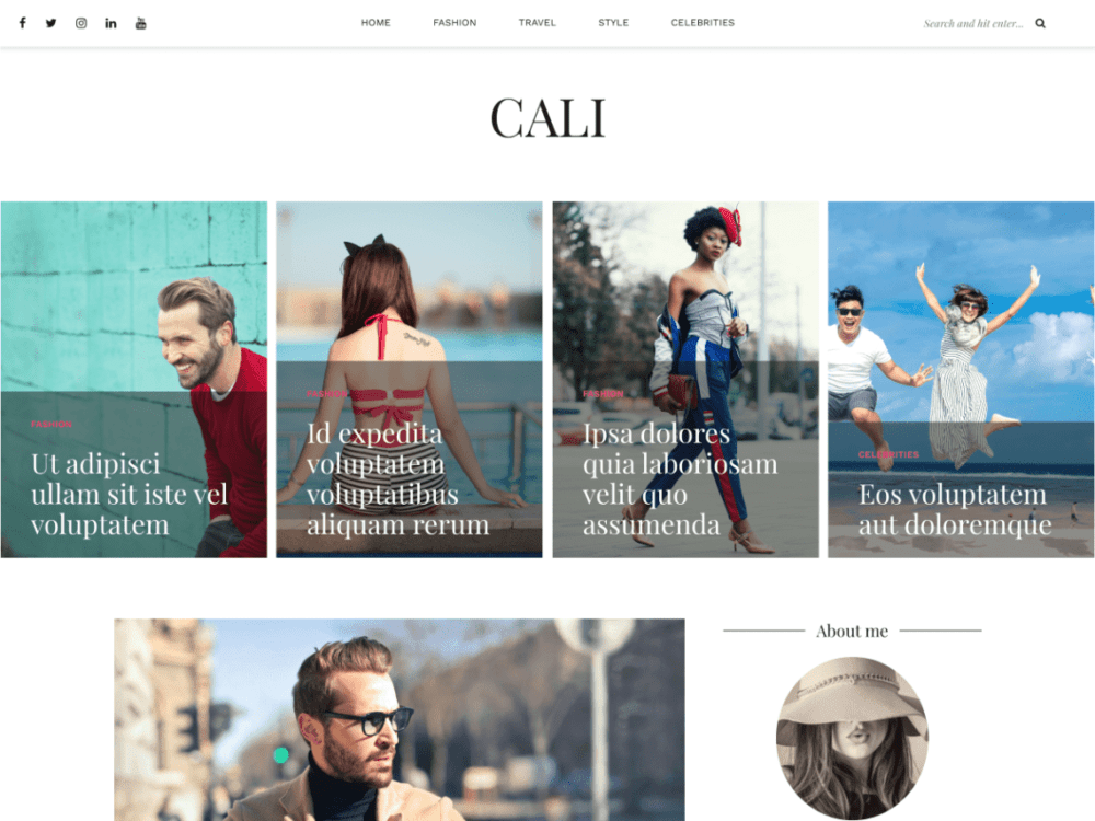 Free Cali Wordpress theme