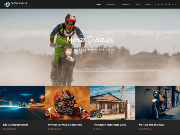 Free Catch Wheels Wordpress theme
