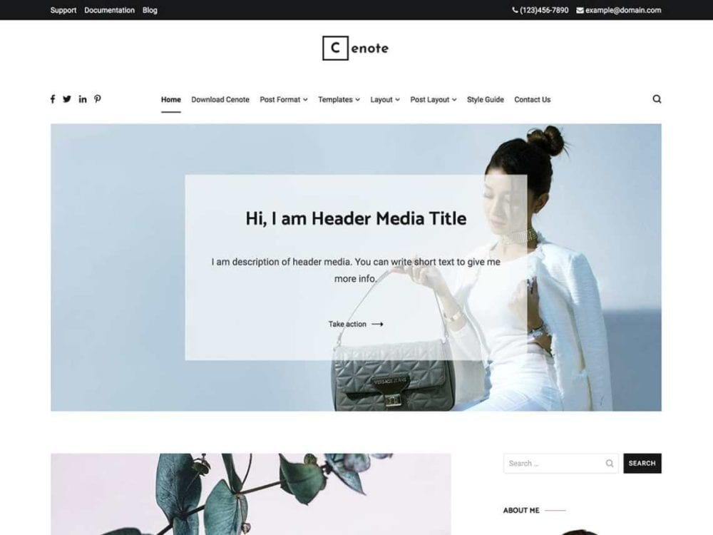 Free Cenote Wordpress theme