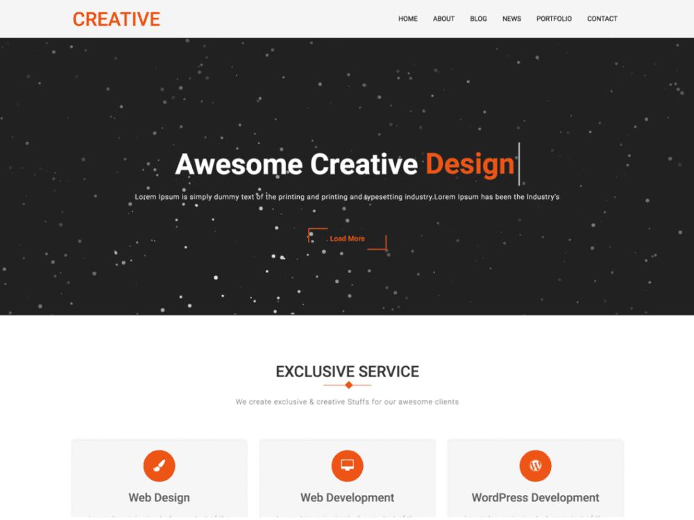 Free Creative Company Wordpress theme