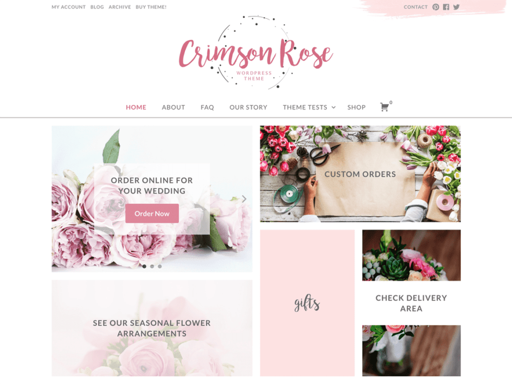 Free Crimson Rose Wordpress theme