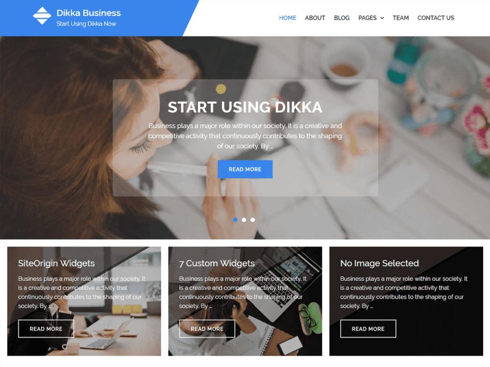 Free Dikka Business Wordpress theme