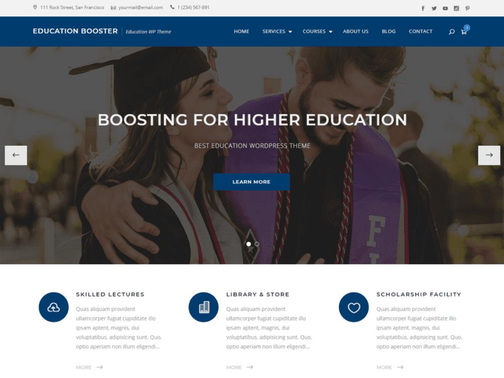 Free Education Booster Wordpress theme